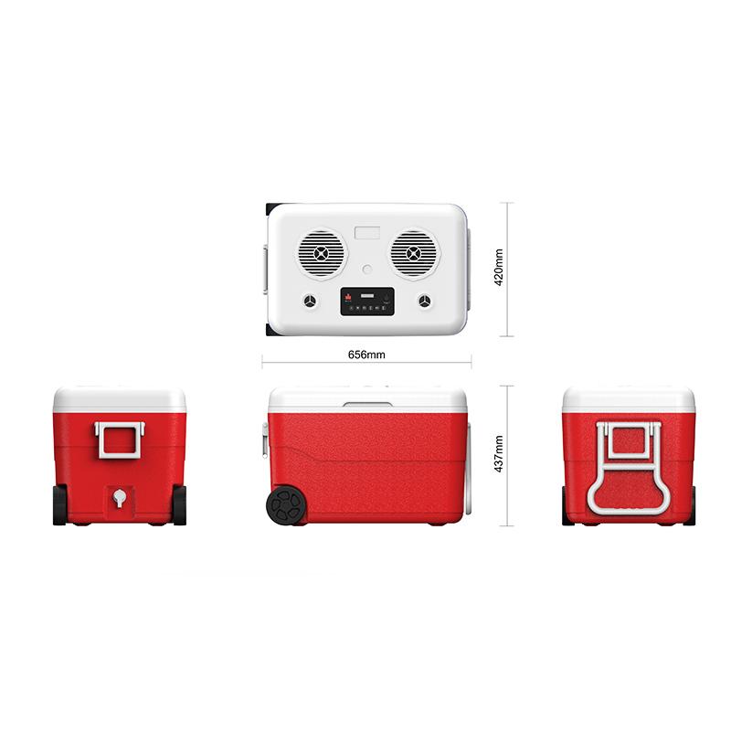Cooler Box USB input Power bank Portable 65 Hifi Stereo System Wireless Outdoor Speaker