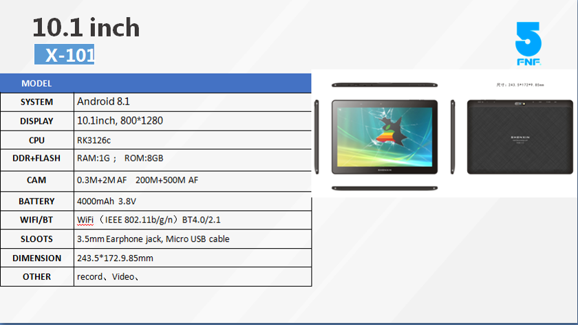 101inch mediatek android 1G tablet computer SIM card Android 81 quad core tablet PC X101 OEM High Quality Tablet