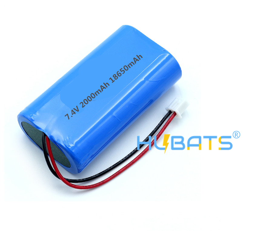 Hubats 74V Lithium Battery 18650 2000mAh 2s1p Liion Rechargeable Battery Pack with Cable Connector for LED LightHeate