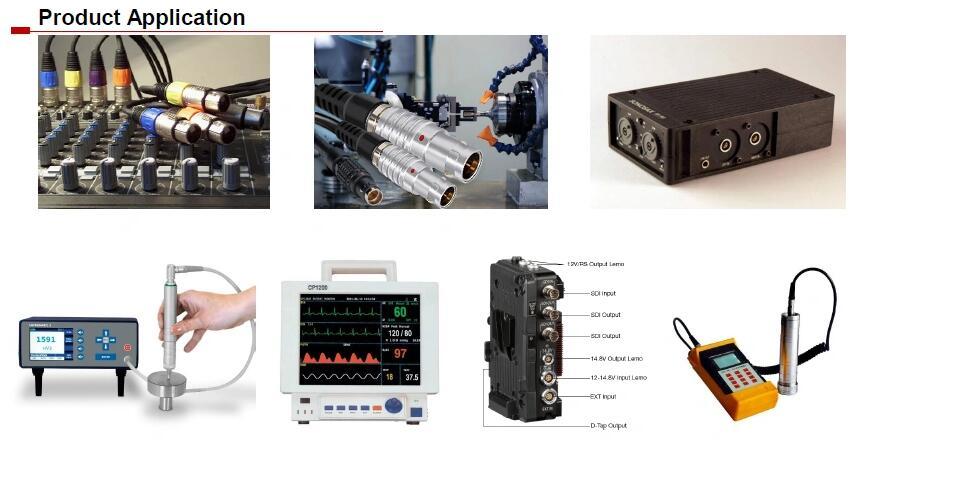 6 7 8 9 10 Pin PCB Mount Connector Lemo Compatible plug and socket