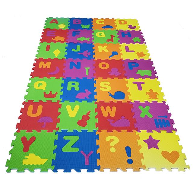 High quality floor puzzle mat squares interlocking 12in x 12in 28pcsset eva puzzle mat for sale