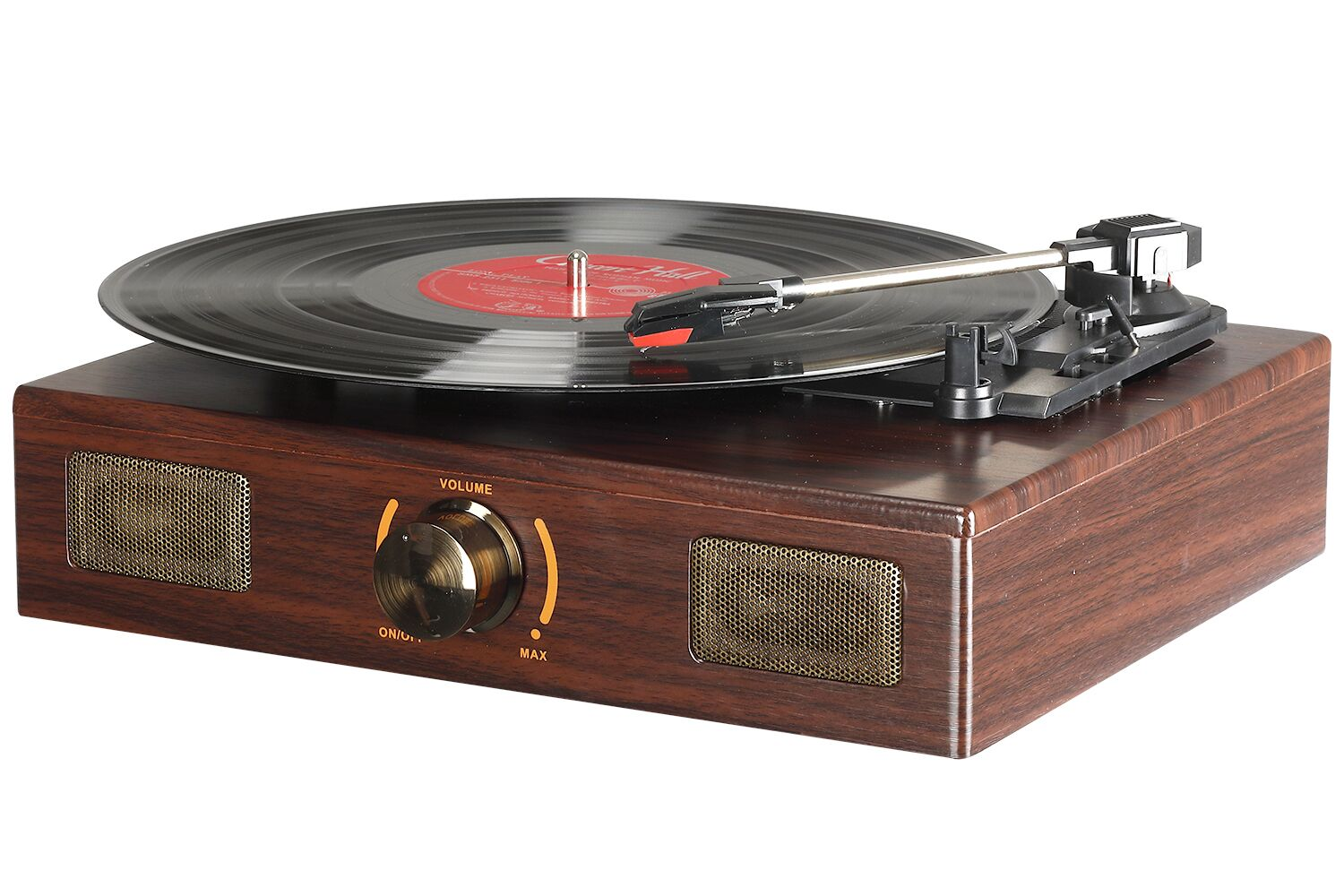 LuguLake Vinyl Record Player Turntable With Stereo 3Speed RCA Output Vintage Phonograph With Wooden Finish