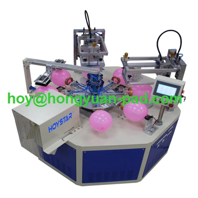 Automatic 2 color latex balloon silk screen printing machine for sale