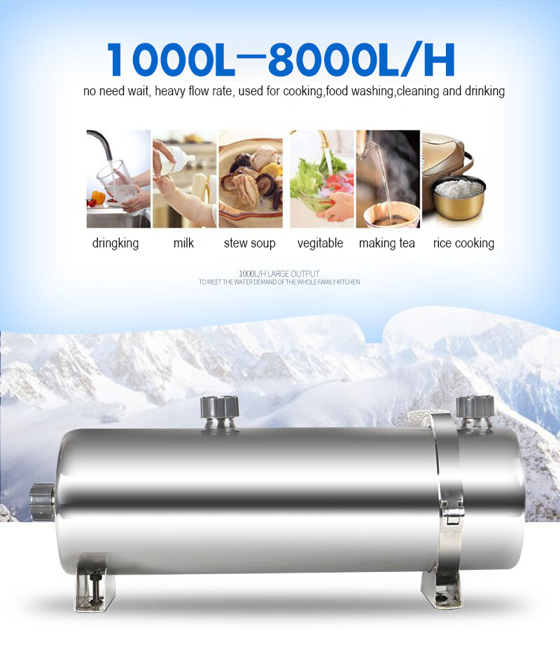 home use PVDF ultra filtration filter drinking water purifier heavy flow rate dirty water rival