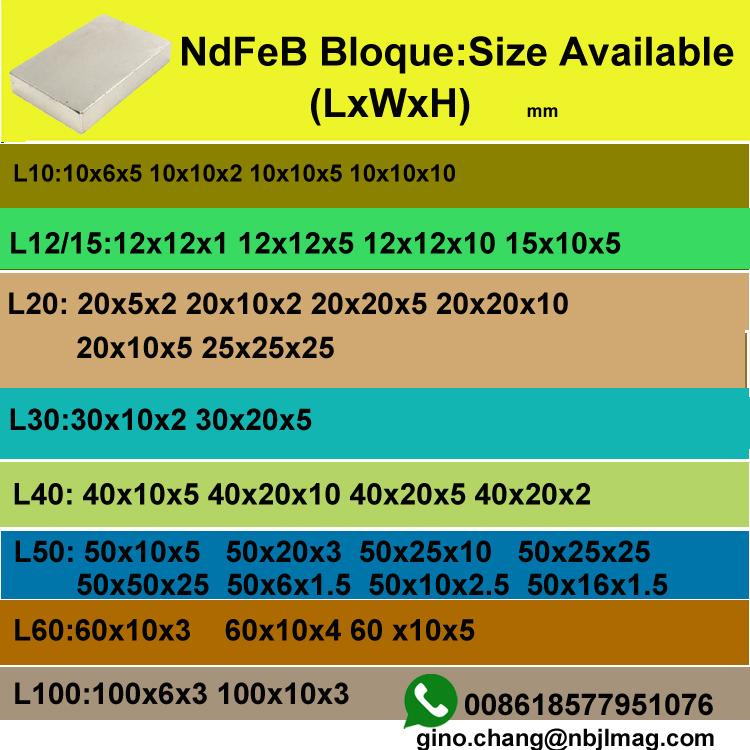 N52 neodymium block magnet 50x50x25mm tubos de iman de neodimio