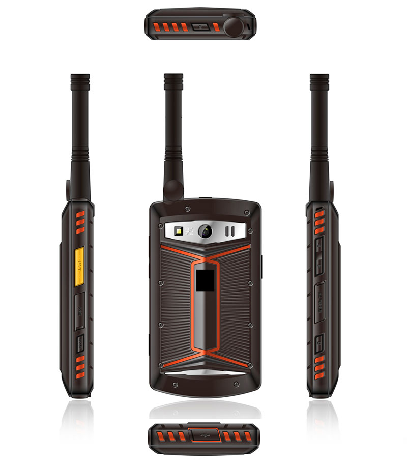 Cheapest Factory 4 inch octacore Android rugged DMR phone IP68 rugged Digital walkietalkie phone with NFC DMR