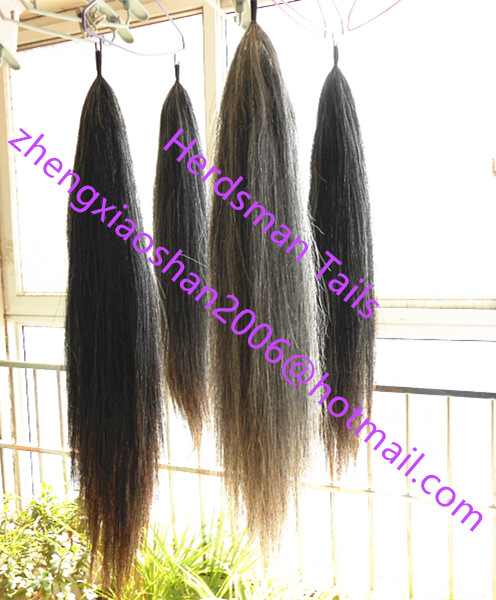 All colors of cloth loop 7075cm false horse tails in double thickness tapered bottom
