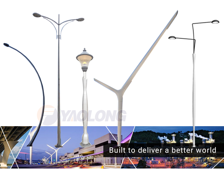 10 meter highway energy saving street lighting pole for sale