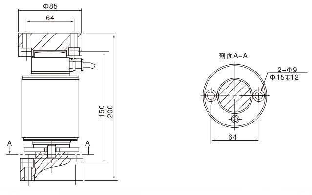 column type load cell 30t use for truck scale can make with stainless steel material
