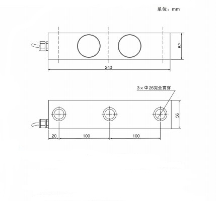 DSK Double ended shear beam 15ton20ton use for silo weighing tank weighing