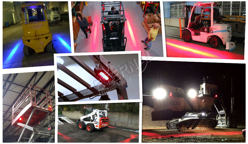 27W red zone safety forklift light led warning lamp agriculture construction equipment lamp