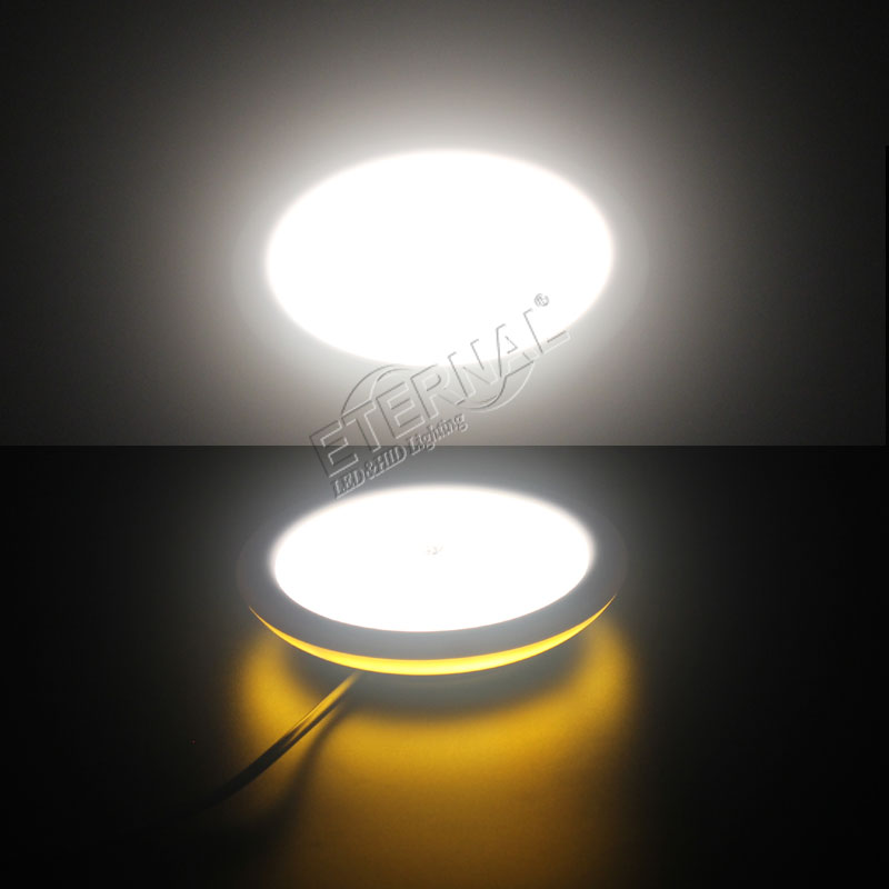 8W LED interior light round touchable switch for car truck vans trailer RV D2080