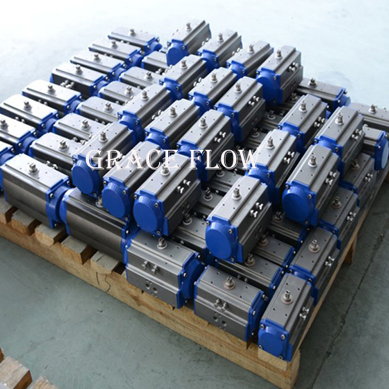 China Rotary Rack Pinion Pneumatic Actuator for Ball Valves Butterfly Valves