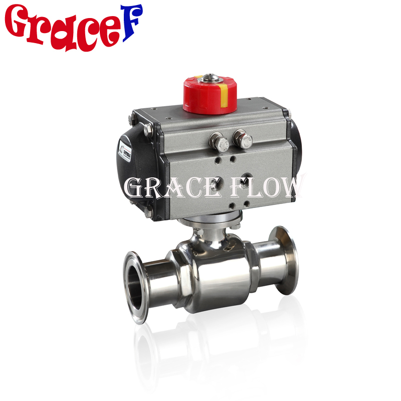Food Grade 304316L Sanitary Butterfly Valve with Fine Tunning Clamp Weld or Flange End