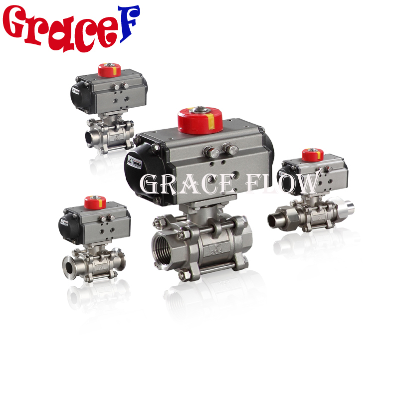 1 2 Pneumatic Actuated Stainless Steel Npt Thread Ball Valve