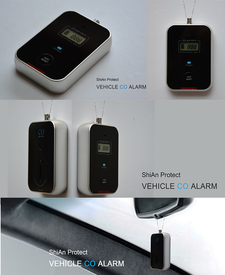 Vehicle battery powered portable Carbon monoxide detector for cars airplane
