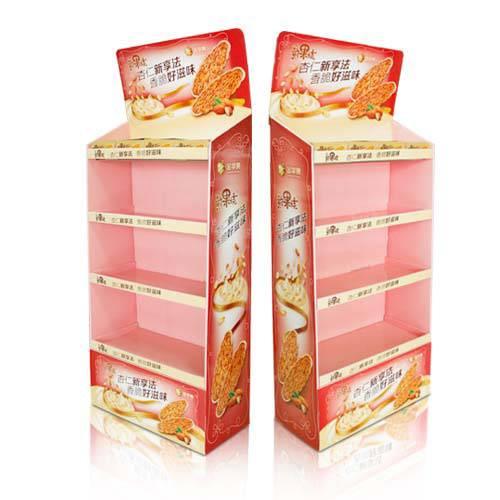 Offer sample service corrugated cardboard floor display standcardboard shelfcarton cardboard POP stand racks