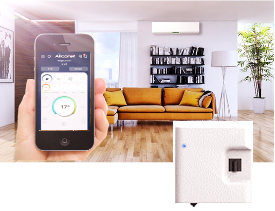 Wireless Air Condtioner Remote Control via Smart phone