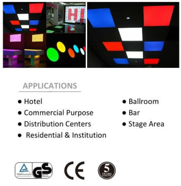 30x30 30x60 60x60 30x120 60x120 12w 30w 54w LED Panel color RGB dmx 12w Panel colorful LED Lamp Light