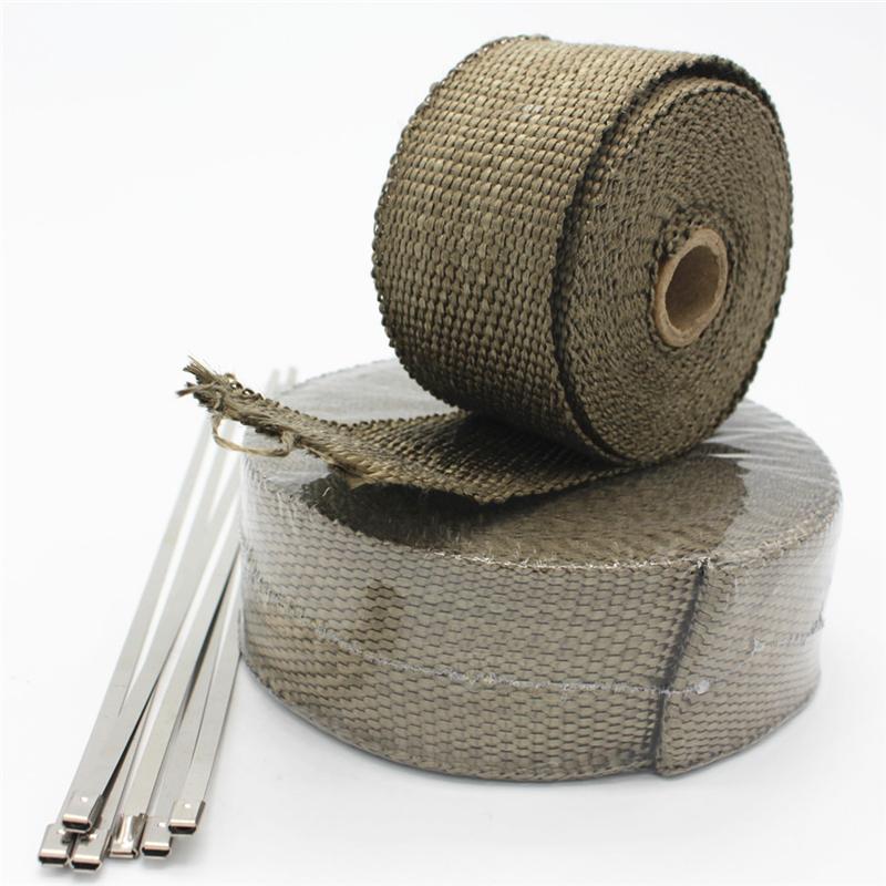 LAVA Titanium Exhaust heat wrap tape for exhaust turbo heat shield