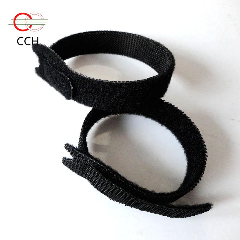 heave duty self gripping hook and loop cable strap black 12x8 back to back hook loop fastener