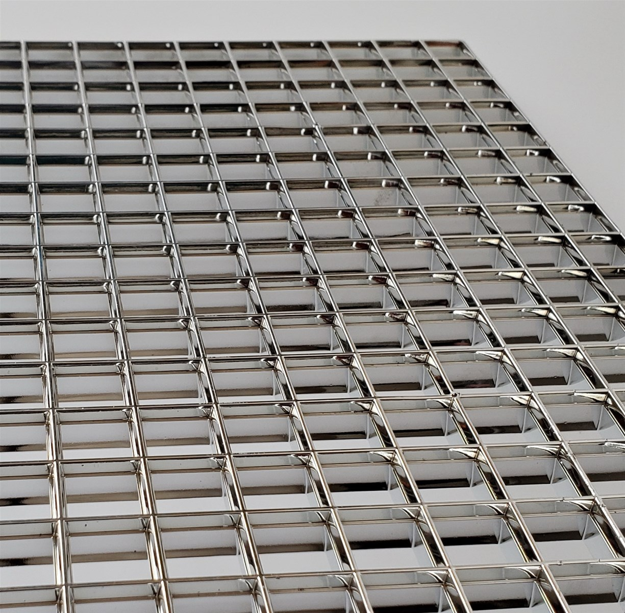 Plastic Chrome Eggcrate Panel Vacuum Plating Egg Crate Metalized Silver AntiDazzle NonGlare Grille