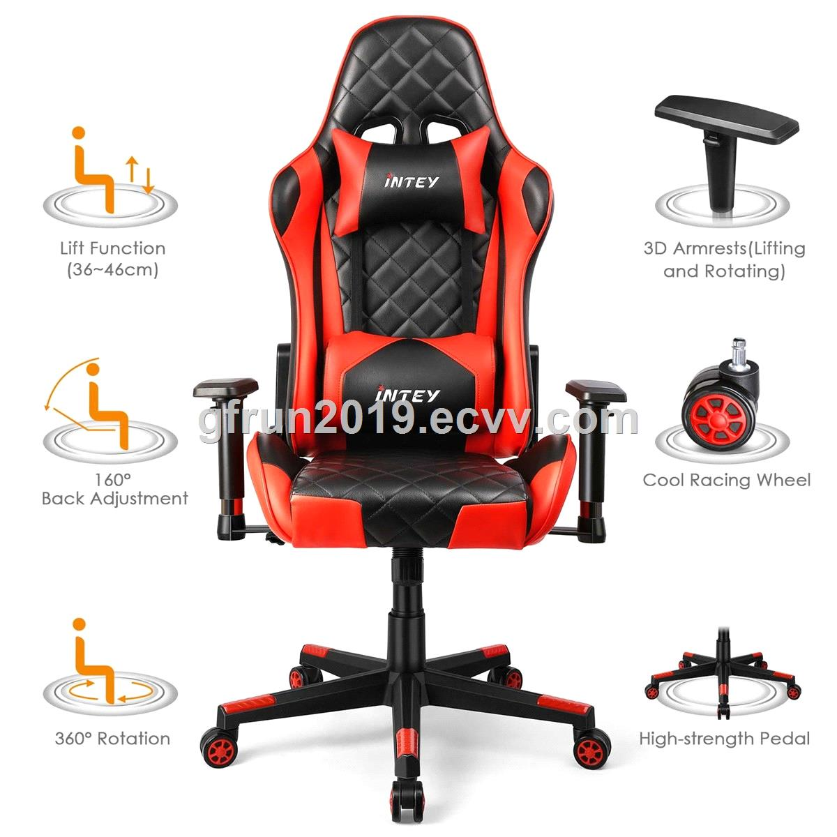 Gold Supplier Swivel Racing Sear Metal Frame OEM ODM Gaming Chair ewin With Wheels