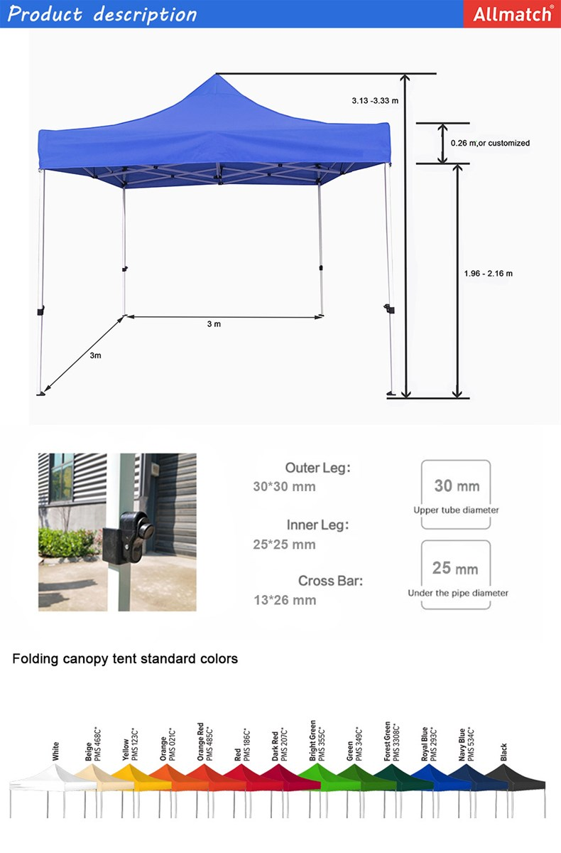 33m waterproof promotion pop up canopy trade show tent for sale