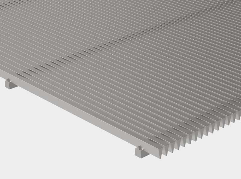 Flat Wedge Wire Panel for Filtering and Screening
