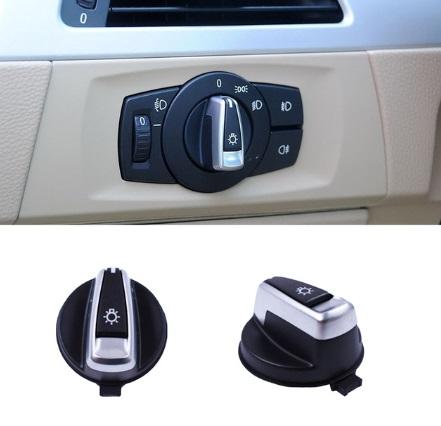 Headlight Lamp Switch Knob Button Cap For BMW 1 3 Series E90 E91 X1 E84 E82 E88 318 320 325 330 335
