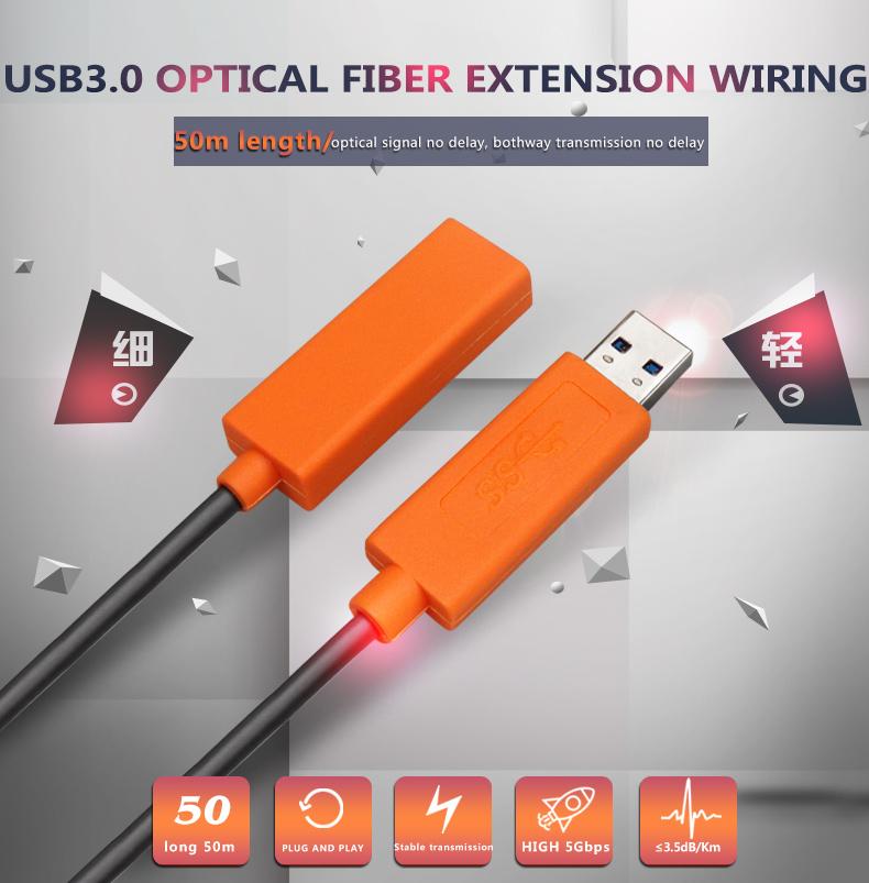 High Speed USB 30 AOC Fiber Cable