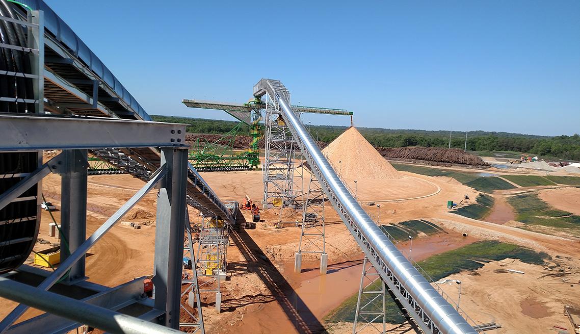 belt conveyor for bulk material handling solution