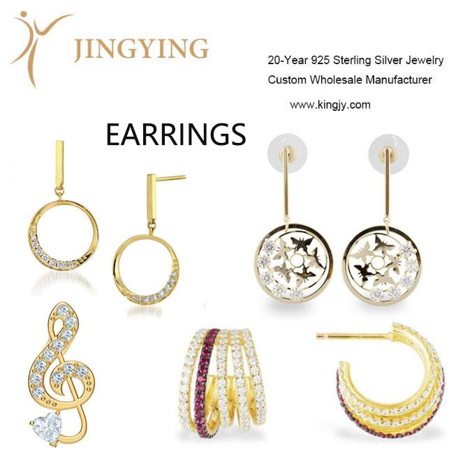 925 Sterling Silver Earrings Fine Jewelry Wholesale Manufacturer