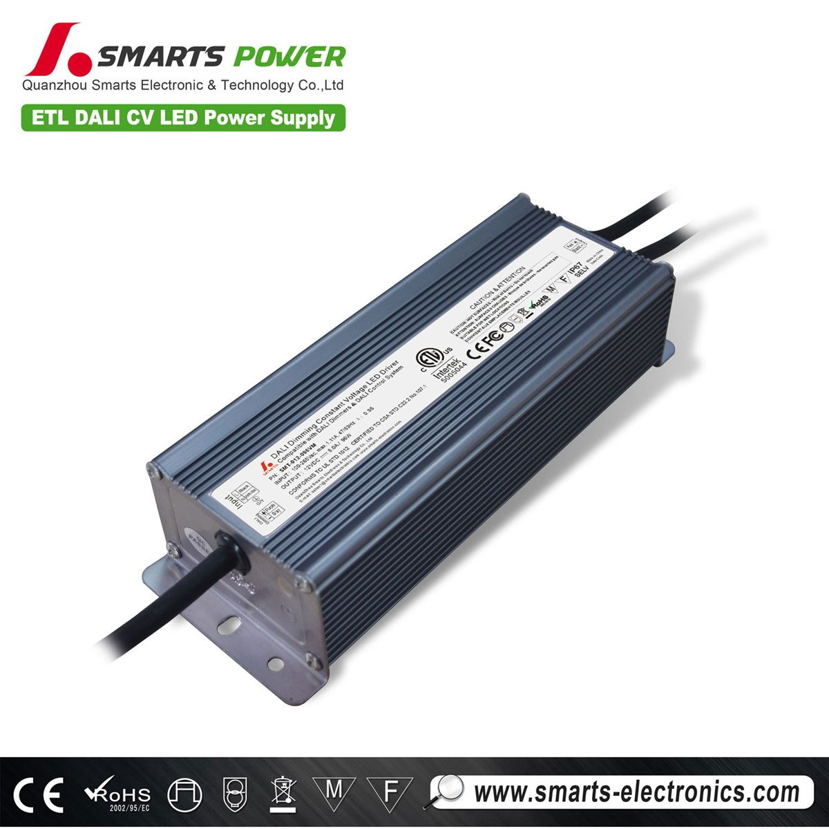 12 Volt 100W DALI Dimmable Constant Voltage LED Driver for Puck Light