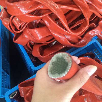 Silicone glass fibre fire retardant hose protector