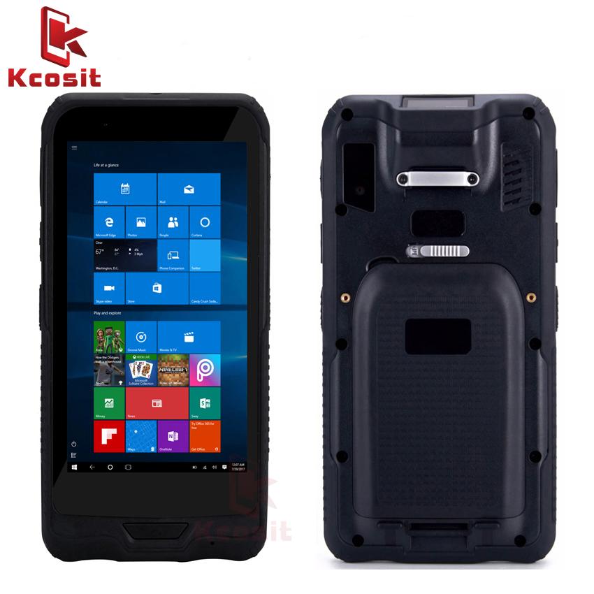 Rugged Handheld Kcosit K62H 6 Tablet Pocket PC Mini Computer Windows 10 IP67 Rugged Waterproof 2D Barcode Scannner