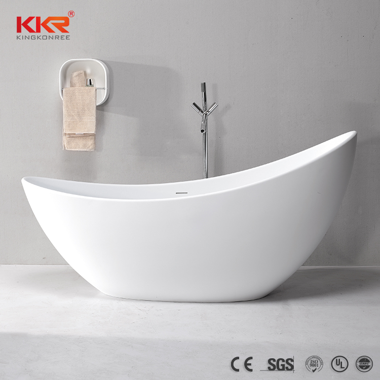 White Matt Freestanding model Bathtub