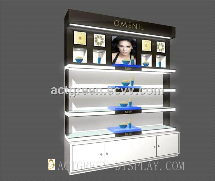 Cosmetics Make up Skincare Haircare Wall cabinet Display Stand AGDWC082