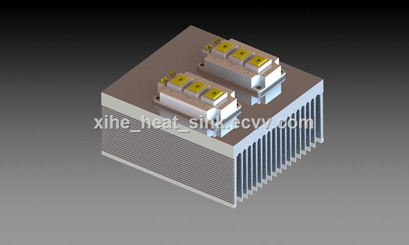 High performance aluminum extrusion profile heat sink SVG APF inverter frequency converter new energy power supply