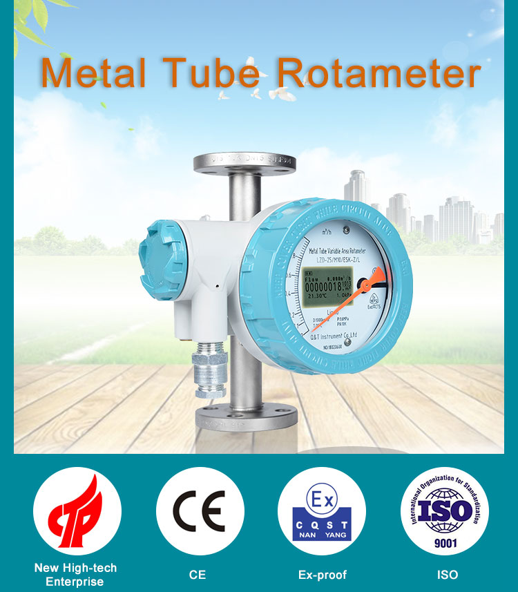 Flange connection variable area metal tube rota meter