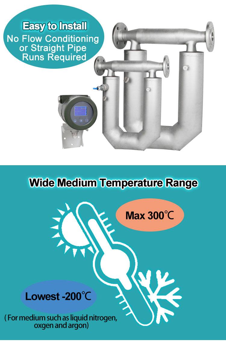 LCD display high viscosity corioliss mass flow meters