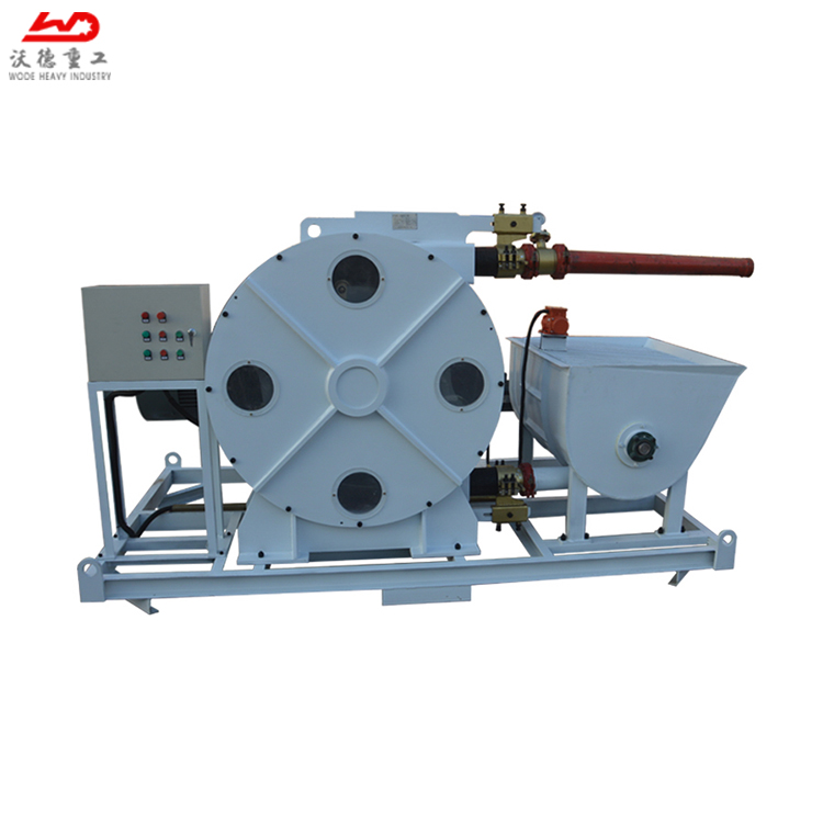 High pressure hose type concrete pump used for spraying concrete in construction project