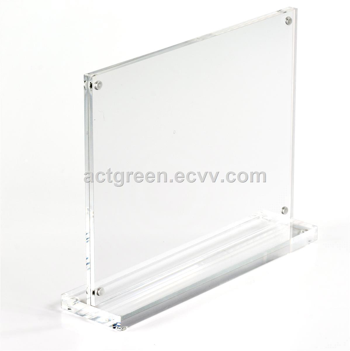 Sign Holder Perspex Acrylic Poster Holder Display Rack Sign Frame Stand Table Advertising Display