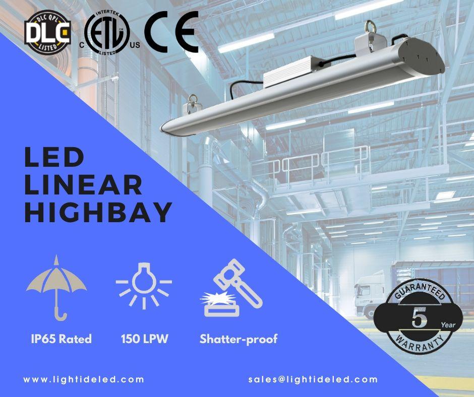 4 foot Linear LED garage light fixtures 150 watts 100277vac 5 yrs warranty
