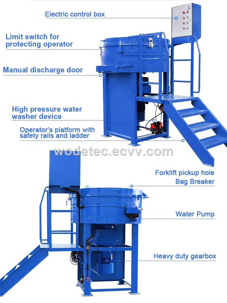 factory price 800kg Castable Pan Mixer for refractory