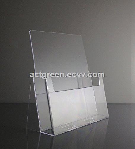 Chinese supplier custom made acrylic brochure holder leaflet catalog display AGD308