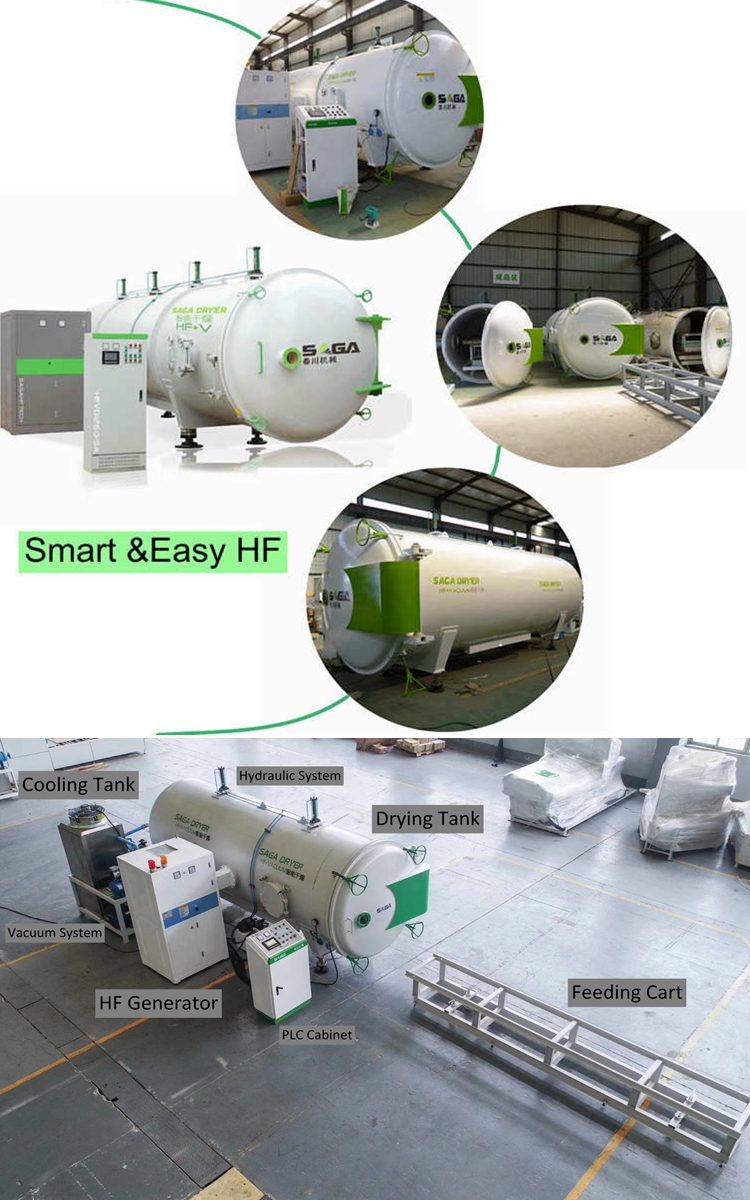 High Frequency HF Vacuum Wood Drying Machine Timber Kiln Dryer