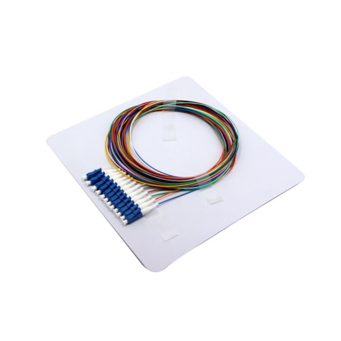 SC APC SC UPC Dual Round Duplex 20mm Single Mode Fiber Optic Pigtail PVC