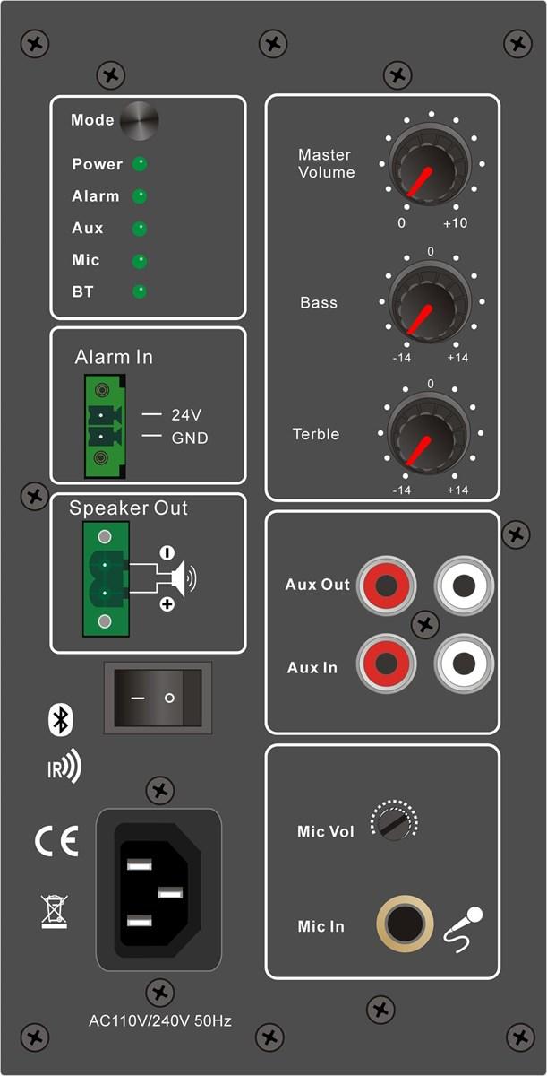Bluetooh Speaker With Voice Alarm Function