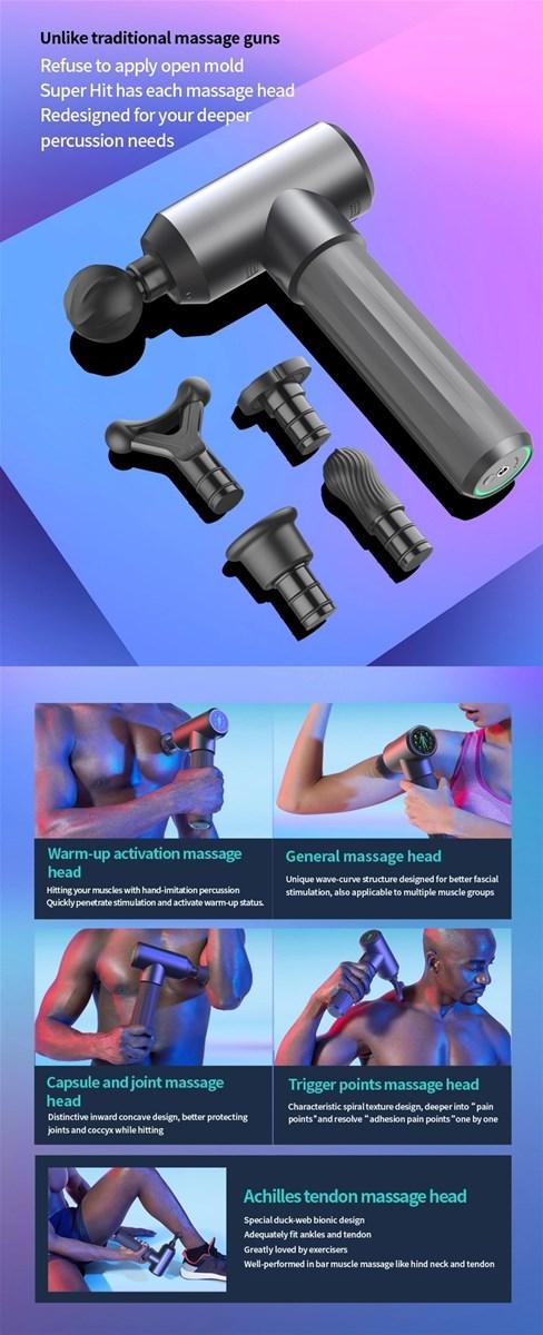 Intelligent chip muscle massage deep fascia gun vibration percussion